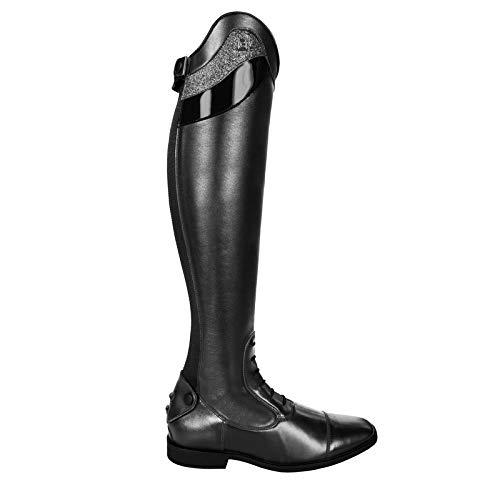 Cavallo Reitstiefel Linus Slim Edition Lack Bling | Farbe: schwarz | Größe: 8-8½ | Schaftform: 50/34