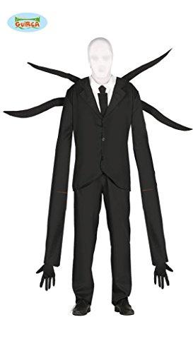 Schwarzer Mann mit langen Armen Kostüm für Herren Halloween Horror Anzug Gr. M/L, (Mann Kostüme Armee Spielzeug)
