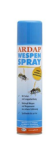 Quiko ARDAP Wespenspray – Insektizid mit Sofort- und Langzeitwirkung zur Bekämpfung von Wespen, Wespennestern & Weiteren Schädlingen – 1 x 400 ml