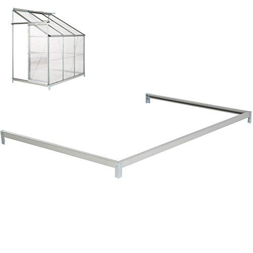 Galleria fotografica TecTake Base per serra de giardino acciaio zincato 192x127x12 cm fondamenta terra esterno