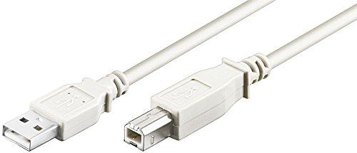 USB Kabel A/B USB 2.0 + 1.1 Stecker A auf Stecker B 1,80m 1,8m 1,8 m Druckerkabel Anschlusskabel z.B Fuer Scanner