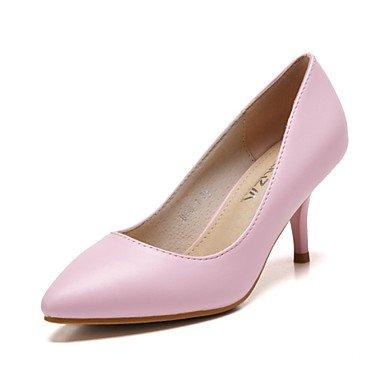 Zormey Frauen Schuhe Leder K?tzchen Ferse Fersen/Spitze Zehe/Closed Toe Pumps Kleid Weitere Farben Blue