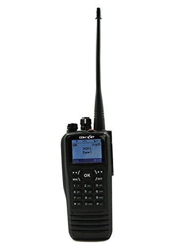 ContalkeTech DM300 DMR Digital 2 Way Radio UHF400-470MHz with Color LCD  Display VOX Message+ Programming Cable