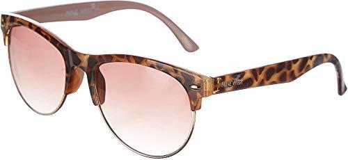 Halbrandlose braune Damen Sonnenbrille One Size Brown