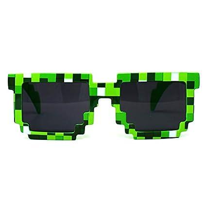 Spainbox Gafas de Sol Pixel Unisex para Niños y...