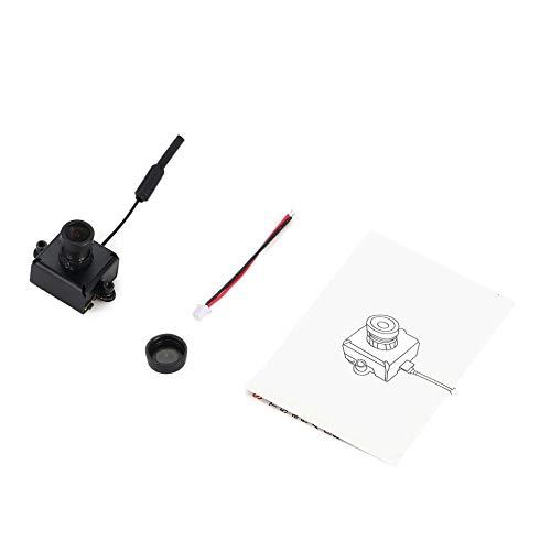 800TVL CMOS Mini FPV Kamera CAM RC Spielzeug Teile Zubehör mit 5,8G 40CH 25mW VTX 3dBi Peitsche Antenne-Schwarz-1 Größe ()