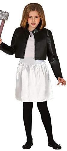 Chucky Mädchen Kostüm - Fancy Me Mädchen Evil Grusel-Killer Puppe 1990er Jahre Halloween Film gruselig Horror Kostüm Outfit 5-12 Jahre