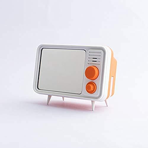Evin Reloj Despertador de grabación multifunción, Reloj Despertador Digital de TV, Regalo mágico para Hombres y Mujeres,Orange