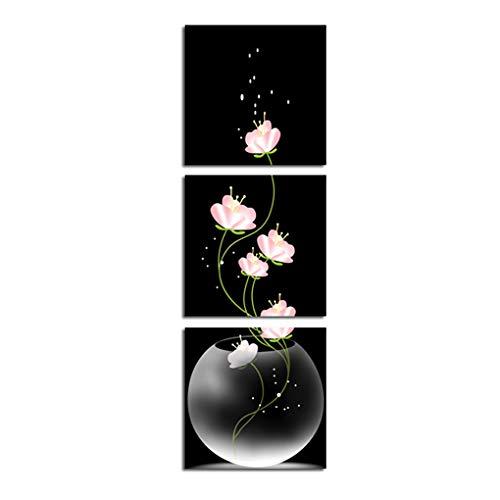 3 Paneles Pintura floración Flor Arte Pared Belleza