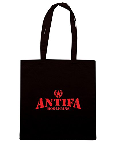 T-Shirtshock - Borsa Shopping TUM0122 ANTIFA HOOLIGANS Nero