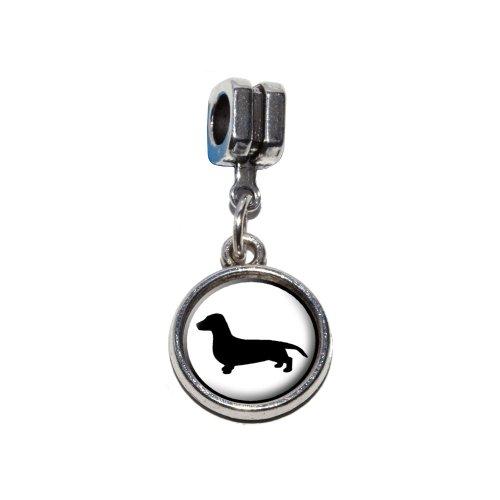 Dackel, Weiner Hund Italienisches europäischen Euro-Stil Armband Charm Bead–für Pandora, Biagi, Troll,, Chamilla,, andere (Weiner Dackel)