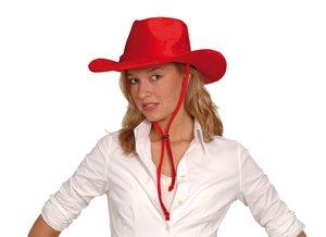 nheitsgröße Erwachsene | Cowboyhut mit Kinnriemen für den Karneval (Traditionelle Cowgirl Kostüm)