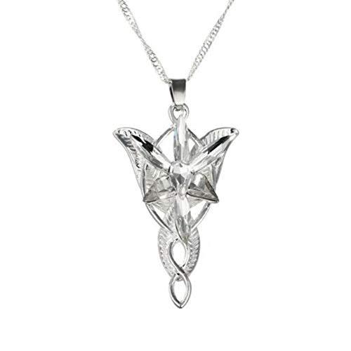osmanthusFrag Herr Der Ringe Arwens Halskette Evenstar Anhänger Strass Halskette Bankett Engagement Schmuck Dekor (Der Ring Herr Arwen)