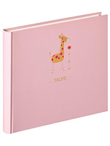 walther design MT-148-R Babyalbum Meine Taufe Baby Animal, Rosa, 28x25 cm