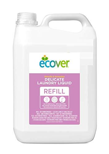 Ecover Ökologisches Woll- und Feinwaschmittel, Wasserlilie & Honigmelone,  5 l Kanister, flüssig