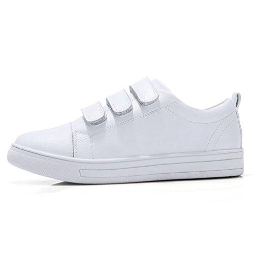 JRenok Chaussures de Sport Femme Running Sneakers Scratch Baskets Basses Casual Confortable Blanc(35-40EU) Blanc