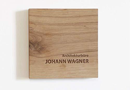 Namensschild Holz (Eiche) mit individueller Gravur in verschiedenen Größen, Türschild Holz personalisiert, Holzschild, Haustürschild Holz, Schild gefräst