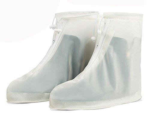Eagsouni® 1Paar Regenüberschuhe Wasserdicht Schuhe Abdeckung Stiefel Flache Regen Überschuhe Regenkombi Schuhüberzieher Rutschfestem für Damen Mädchen Herren Jungen