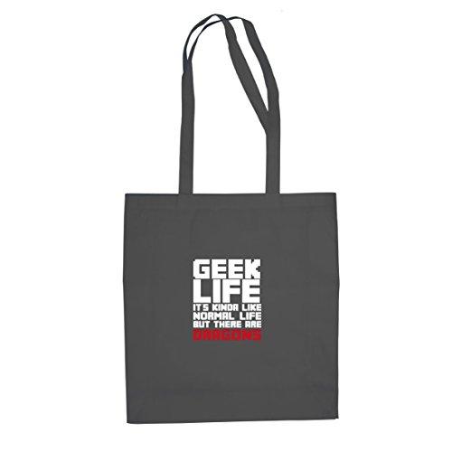 Geek Life - Stofftasche / Beutel Grau