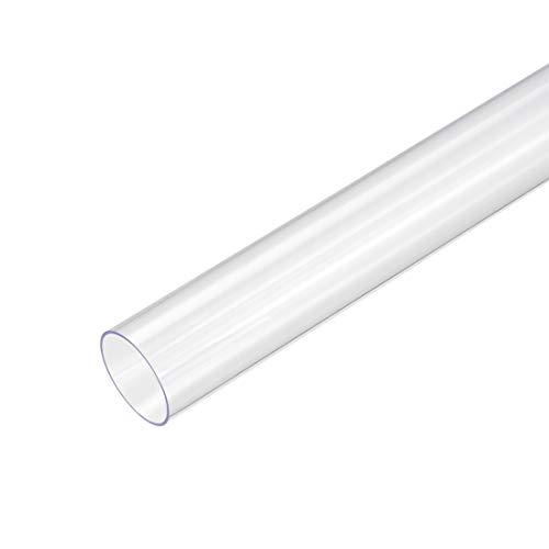 sourcing map PVC rigido tubi rotondi chiaro 23mm ID x 25mm diametro esterno 0.5M/1.64ft lunghezza