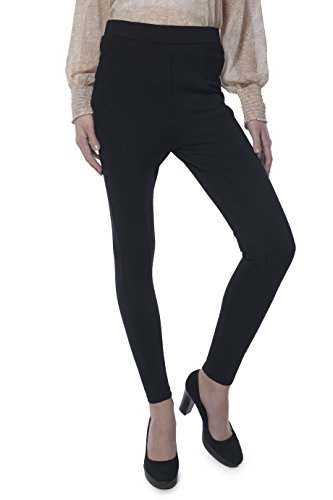 Yaadleen Women's Viscos Vertex Lycra Solide Black Jagging (Black_Small)  available at amazon for Rs.799