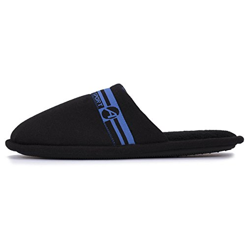 Isotoner Chaussons ATHENA mules homme sport Homme Noir