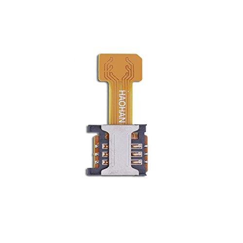 Velidy Dual SIM Karte Micro SD Adapter für Android Extender Nano SIM Micro SIM Mini SIM Adapter für XIAOMI REDMI Note 3 4 3 s pro Max (mini SIM)