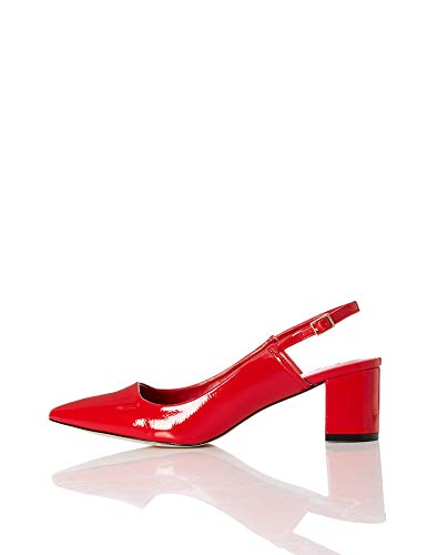 Find. Point Block Heel Slingback Zapatos Talón Abierto