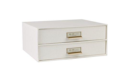 Bigso Box 943145544 Schubladenbox, Ablagefach, Modell Birger, 33 x 25 x 14.5 cm, weiß OFFICE