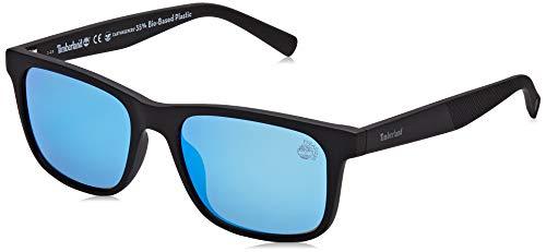 Timberland tb9141 occhiali da sole, black/other/brown polarized, 55 uomo