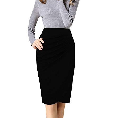 TYTUOO Damen Rock Vintage Dress Side Raffen Damenbekleidung für die Arbeit Stretchy Office Pencil Röcke