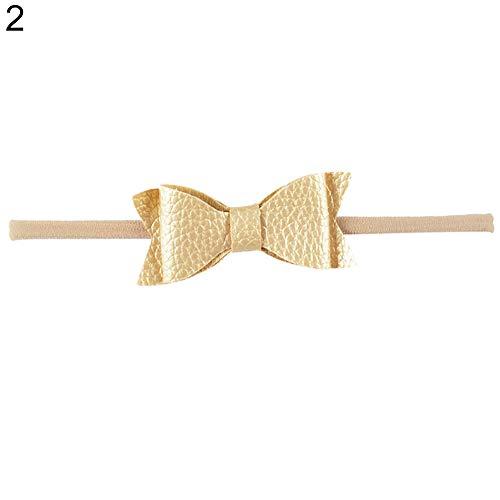 Originaltree Haarband für Babys und Kleinkinder, Kunstleder, elastisch Gold