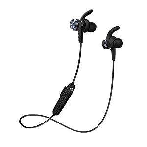 1MORE iBfree In-Ear Sportkopfhörer drahtlose (Bluetooth 4.2, IPX6 Wasserdicht,In-line Fernbedienung mit Mikrofon) für iPhone, Android Geräte – E1018BT, Schwarz