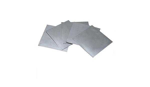 5pcs Zink Platte Flach Blech f/ür Wissenschafts Labor 140x140x0.2mm hoher Reinheit zum Basteln /& Haushalt /& Werkstatt