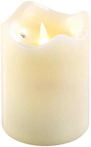 Britesta Flackerkerze: LED-Echtwachskerze mit beweglicher Flamme, 12,5 cm hoch (LED Kerze Timer)
