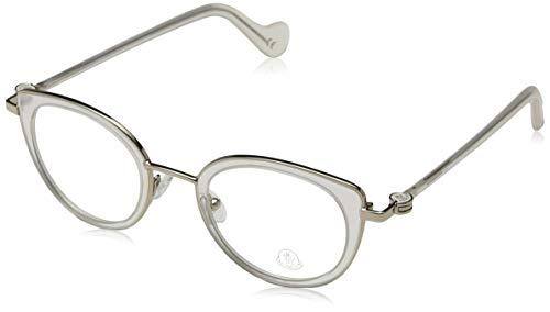 Moncler Unisex-Erwachsene Brillengestelle ML5025 024 46, Weiß (Bianco)