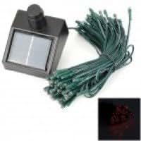 Solar Powered 0.4W 2-Mode 100 LEDs Red Light Decoration String Lamp (1.2V / 17m)