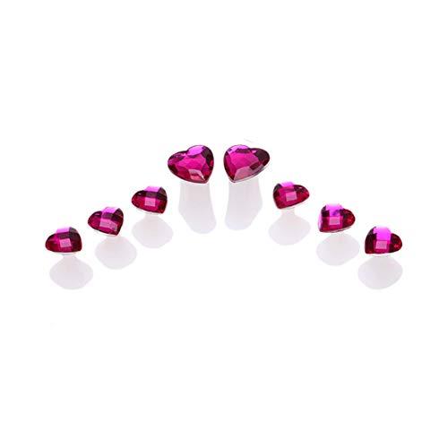 Qjiaxing toe separatore di silice gel strass manicure strumenti splitter chiodo lavabile,pink