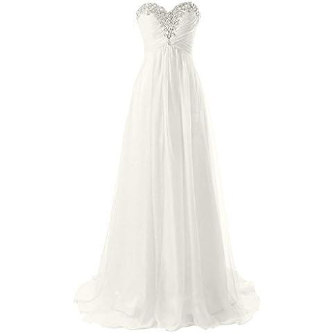 JAEDEN Vestidos de boda sin tirantes de la playa Vestido simple de la gasa del vestido de la novia