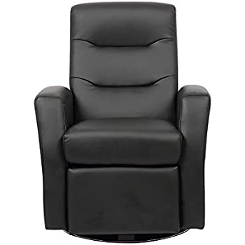 Kids Black Reclining Swivel Chair Room Furniture Padded Faux Leather Headrest  sc 1 st  Amazon UK & True Innovation Bonded Leather Childrenu0027s Recliner Kids Chair/Sofa ... islam-shia.org