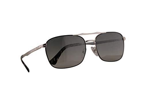 Persol 2454-S Sonnenbrille Silber Schwarz Mit Grauem Verlaufsglas Gläsern 60mm 107471 PO 2454S PO2454S PO2454-S