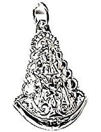 Medalla colgante plata ley 925m 25mm. Virgen Rocío pequeña [AA8027]