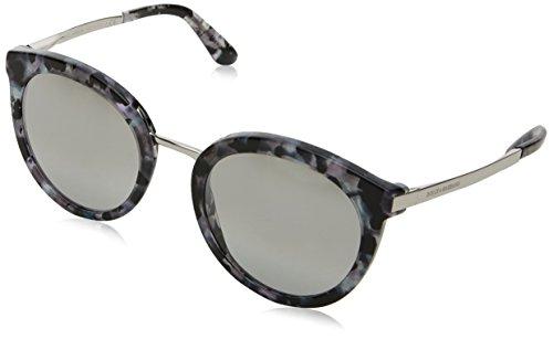Dolce & Gabbana Damen 0DG4268 31326V 52 Sonnenbrille, Schwarz (Cube Black/Silver/Ltgreymirrorgradsilver),