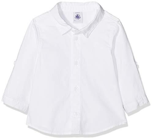 Petit Bateau Petit Bateau Baby-Jungen Hemd 434090, Weiß (Ecume 01), 62 (Herstellergröße: 3m/60cm)
