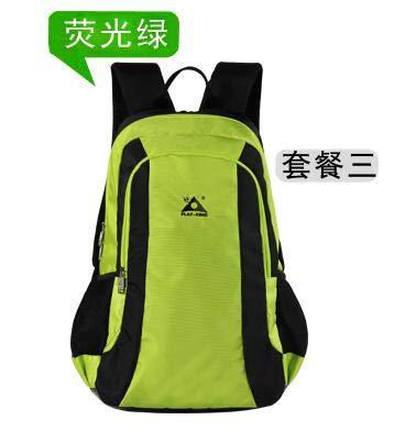Zbshop zaino da alpinismo zaino esterno doppia spalla computer portatile da viaggio escursionismo multifunzionale borsa sportiva multifunzione zainetto, verde fluorescente, 40l