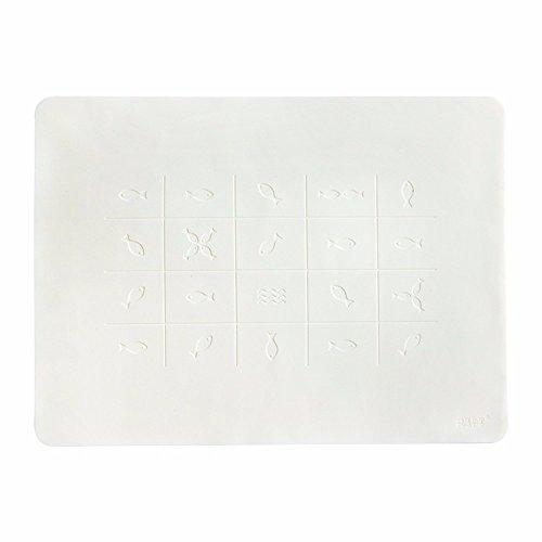 XXSZKAA Creative Silicone Gris Table De Salle À Mousses Tapis De Table À Manger Thermique Mat Pliable Étudiant Mat Coaster Bol Chauffe Thermique Pad Pad Thermique Table De Cuisine Tapis Décoratif, Blanc, 40 * 30 Cm
