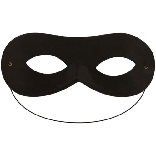 Robber Bandit Superhero Domino Eye Mask (Black) by FNA Fashions