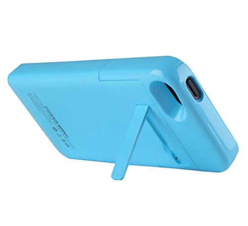 ERGEOB® Chargeur de batterie portable Batterie Case Banque Puissance 2200 mAh ultra compacte pour iPhone 5 / 5s Noir Blanc Or Bleu