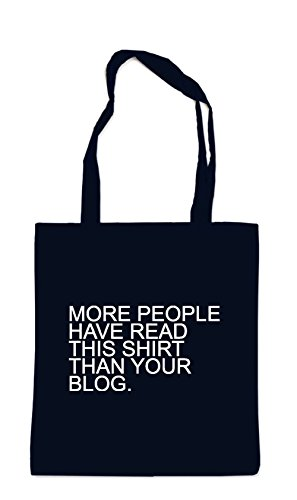 More People Have Read This Shirt... Sac Noir
