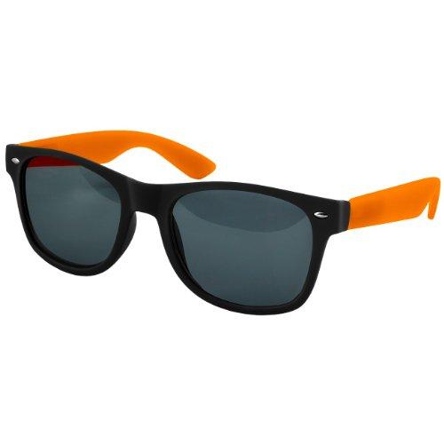 caspar-lunettes-de-soleil-wayfarer-unisexe-monture-mate-avec-branches-colorees-et-charnieres-a-resso